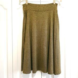 Gold metallic party skirt